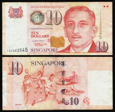 Banknotes Singapore $10 to $50 Circulated (7) See scans