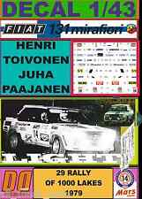 DECAL 1/43 FIAT 131 ABARTH H.TOIVONEN 1000 LAKES 1979 (LIGHT) (01)