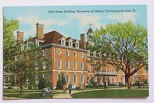 Linen postcard ILLINI UNION BUILDING, UNIVERSITY OF ILLINOIS CHAMPAIGN-URBANA IL
