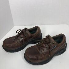 Florsheim Polaris Steel Toe SD Leather Oxford Work Shoes M-6d W-8d Air Cushion