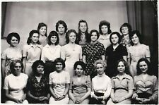 1970s Pretty young women girls students hairstyle fashion Soviet Russian photo