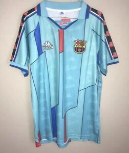 retro barcelona football shirt away XL