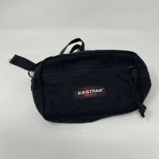 VTG Eastpak Vintage Made In USA Black Fanny Pack Two Zippers Small