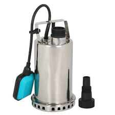 1HP Stainless Steel Submersible Sump Dirty Clean Water Pump Flooding Pool Garden
