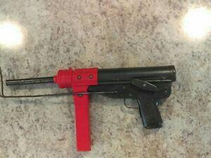 Vintage Mattle Sub Machine Gun Cap Gun Grease Gun Not Working.