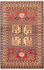 """Vintage Hand-Knotted Carpet 4'0"""" x 6'3"""" Traditional Oriental Wool Area Rug"""