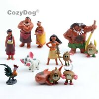 12 pcs Movie Moana Action Figure Dolls Princess Play Set Toy Cake Topper Gift