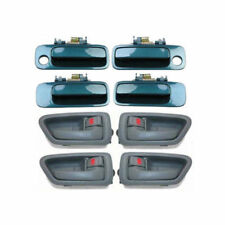 For 97-01 Toyota Camry 4 Gray Inside & 4 Green 6P2 Outside Door Handle Set DH90