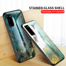 For Samsung Galaxy S20 Note 10 Slim Rugged Marble shockproof Girl Case Cover