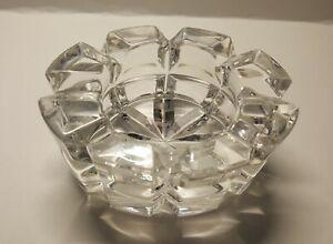Mikasa Germany Cut Crystal Reflections Crystal Votive Candle Holder 4'Lx2'H. Vtg