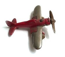 Hubley Red Fighter Plane Silver Wings