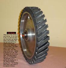 "Belt Sander 14"" x 2"" Rubber Contact Wheel with Supreme Shaft Locking Bearings"