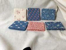Six Nautical Themed Fabric Bundle   Red, Blue, White 9