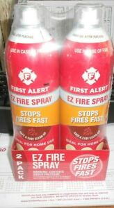 First Alert Fire Extinguisher | EZ Fire Spray Fire Extinguishing - Pack of 2