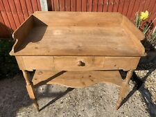 More details for antique victorian pine wash stand wash table