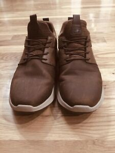 SKECHERS MENS BROWN CASUAL SLIP ON SHOES - size 12