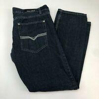 Reset Denim Jeans Mens 40X32 Blue Straight Leg Regular Fit Dark Wash 5 Pockets