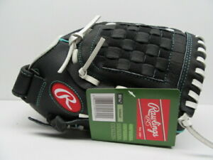 Rawlings Fast Pitch Leather 11.5 Left Hand Softball Mitt Black Right Throw