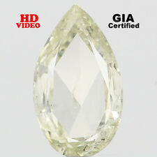 GIA CERTIFIED Natural Loose Diamond Pear I1 Green Yellow Color 0.32 Ct L4429