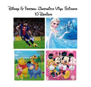 Disney / Football Childrens Light Switch Vinyl Sticker Decal - Fast & Free Post