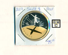 2009Canada $1 Prf Silver Gold-Plated 100th Ann. History of Flight in Canada Coin