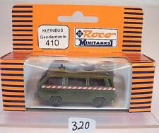 Roco Minitanks 1/87 No. 410 VW Volkswagen T3 Bus Gendarmerie Militär OVP #320