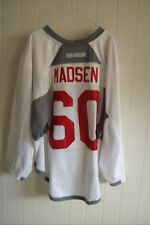 ARIZONA COYOTES Merrick Madsen worn white RBK goalie jersey NOB 2017 rookie camp