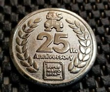 Club Nintendo Exclusive 25th Anniversary Super Mario Coin Medal 2010 Rare cows