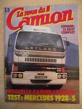 La revue du Camion n° 13 / avril 1984 M.A.N. Aventure DIESEL Poster VOLVO F12