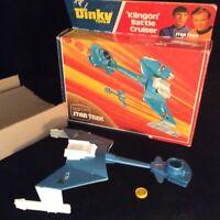 Dinky Star Trek KLINGON Battle Cruiser Space Ship 1977 Vintage Toy Boxed MINT
