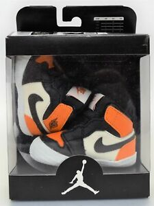 Nike Air Jordan 1 Crib Bootie Shattered Backboard Orange AT3745-108 Size 2C