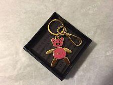 NIB Prada Bear Keychain Pink 1PS399