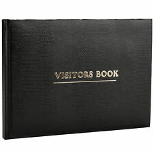 Black Visitor Book High Quality For  Business Hotels Guest Houses Reception -VBK