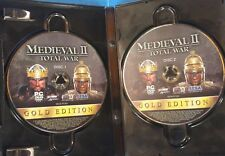 Medieval II: Total War -- Gold Edition (PC, 2008) Case , Discs,  Key      S-3