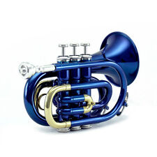 Sky Brand New Band Approved Blue Pocket Trumpet *END-OF-YEAR-SALE""
