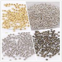 1000 Metallperlen Silber Perlen Rund SPACER Beads zum Basteln DIY Schmuck 3mm