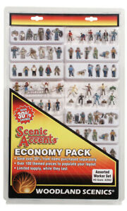 Woodland Scenics ~ HO Scale People ~ Assorted Worker Set ~ Economy Pack ~ A2052