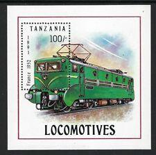 Souvenir Sheet from Tanzania,  Locomotive.......11R........D 301