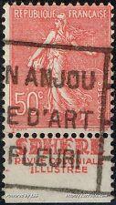 FRANCE TIMBRE PUB SPHERE SUR SEMEUSE N° 199 AVEC OBLITÉRATION