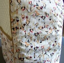 Fat French Chefs Quilted Fabric KitchenAid Mixer Cover NEW