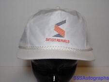 Vintage 1980s SIMON AERIALS Boom Scissorlift ADVERTISING SNAPBACK HAT CAP