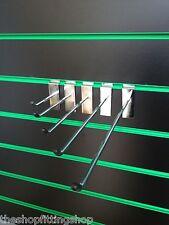 "100 X 4"" (100mm) cromo de una sola punta Ganchos Para Slatwall Paneles & Shopfittings"