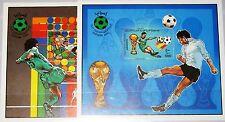 LIBYEN LIBYA 1982 Block 61-62 1020-21 Soccer World Cup Spain Fußball WM MNH