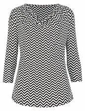 Marks and Spencer Women's Striped Hip Length Blouse Tops & Shirts