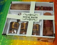 19 piece total bath Home Dynamix, Shower Curtain,Towels, Hooks, Soap Holder, cup