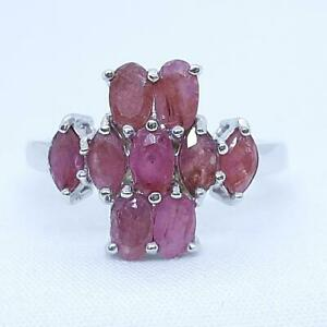 World Class 1.90ctw Mozambique Ruby 925 Sterling Silver Ring Size 7.5 3.6g