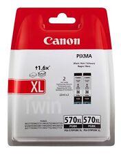 CARTOUCHE D'Encre Imprimante Canon PGI-570 XL Pgbk Noir Double Lot