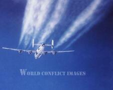USAAF WW2 B-24 Bomber Vapor Trails 8x10 Color Photo 44th BG RAFShipdam WWII