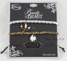 New Disney Beauty & The Beast Chip & Lumiere Bonjour Arm Party Bracelet Set