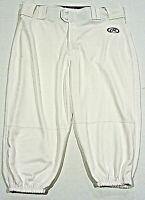 Rawlings Launch Knicker Baseball Pants, White, Adult Small, Free Shipping!